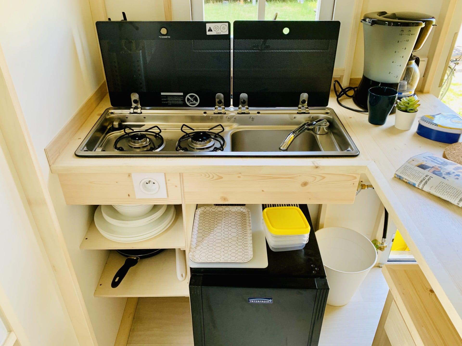 cahute premium camping port blanc dinard équipements
