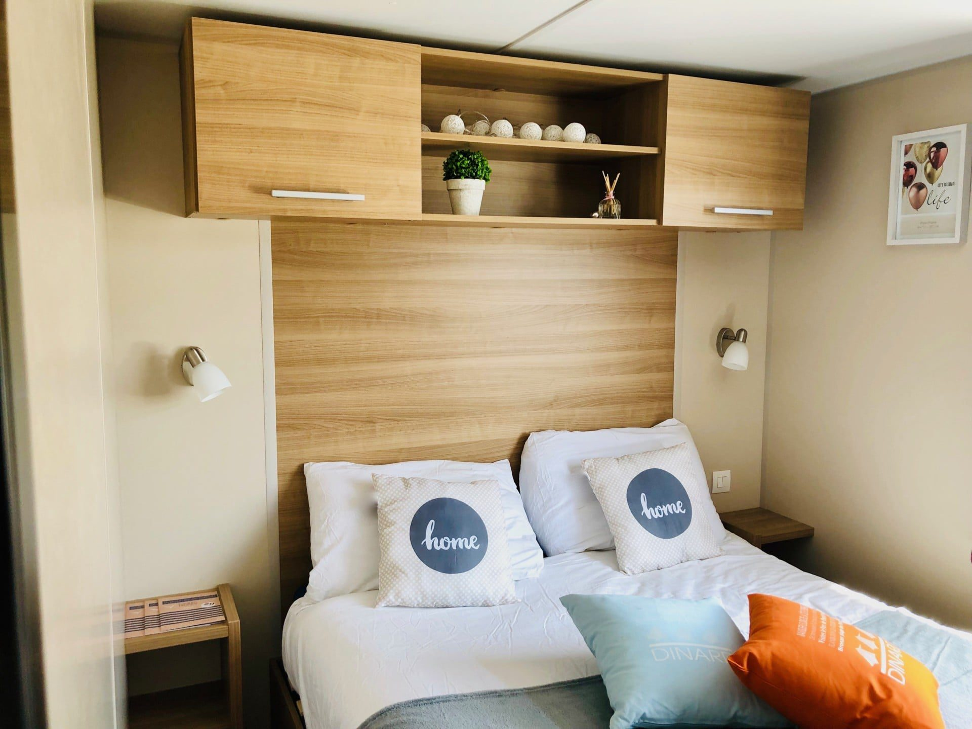 MOBIL HOME 9 CAMPING PORT BLANC DINARD CHAMBRE PARENTALE